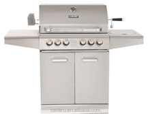Full stainless steel CBZ 4 burner gas grill with side burner and infrared back burner