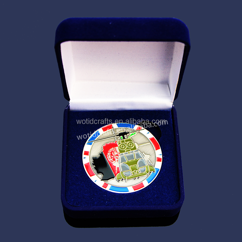 Wholesale Cheap Custom Metal Challenge Coin With Box WC890