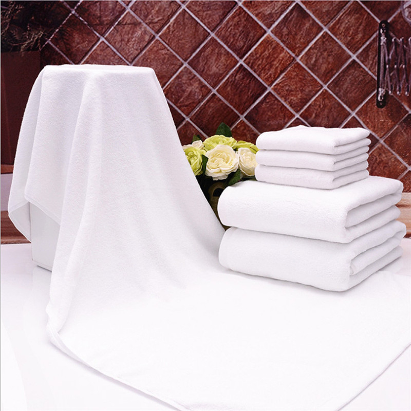 Hotel Bath Towel 100% Cotton White 500g 70cm x 140cm with Dobby Border