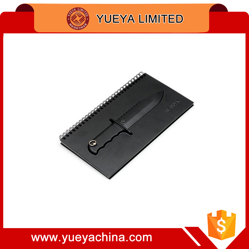 Black 4 Series Hunting Knife Notebook with Key Ring