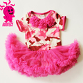 Wholesale baby girls clothes short sleeve Camouflage dress