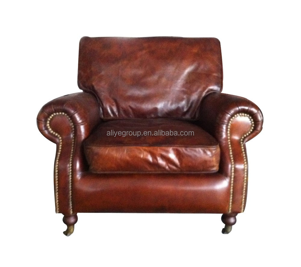 Pk 5061 antique single sofa upholstered rustic leather old style sofa buy pure leather sofa - Divano in spagnolo ...