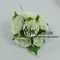 IVORY Flower Clip For Wedding Drape And Curtain Backdrop