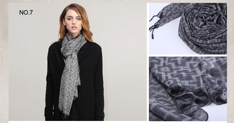 C0912016 Jacquard Dyed Wholesale small orders Mongolia top Quality Cashmere scarf