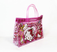 Cute Pattern Fashion Beach Bag Clear PVC Tote Bag