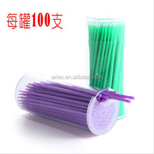 Factory Supply Good Quality Lint Free Disposable Dental Micro Brushes Swab Applicators