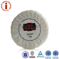 30g Elegant White Size Round Mild Brand Names of Soap With Label