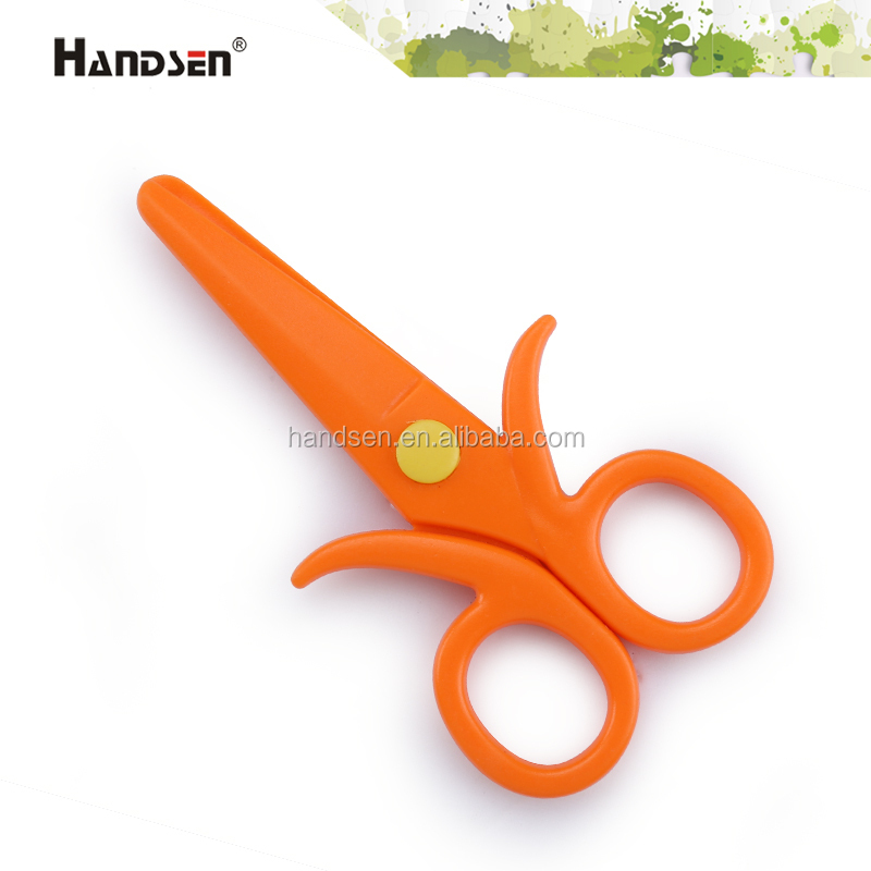 "4-3/4"" new design and cheap safety kid scissor plastic safety scissors"