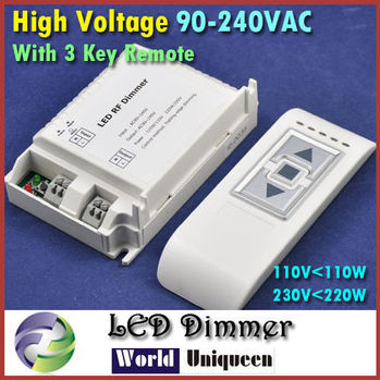 90-240VAC 1 channel Trailing Edge Dimming Brightness Adjust LED Dimmer