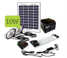 10W solar light kit