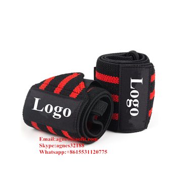 Yellow White Red Wrist brace support Custom Weight Lifting Wrist Wraps