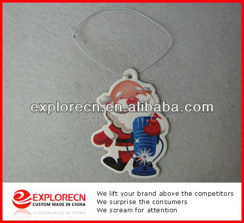 Father Christmas Paper Auto Air Fragrances in low cost