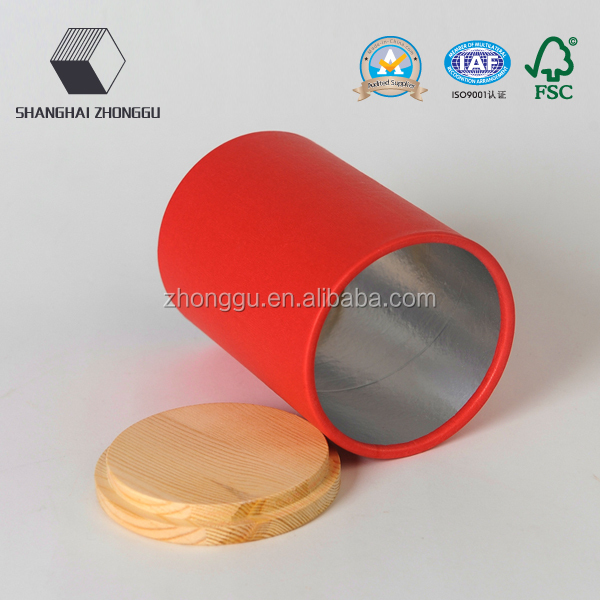 China supplier recycled cardboard round paper box tube package for foods