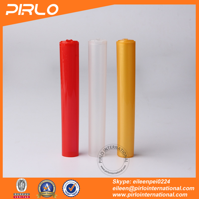 120mm Colorful pp plastic tubes flip top cap plastic pill bottle pharmaceutical plastic pill tube