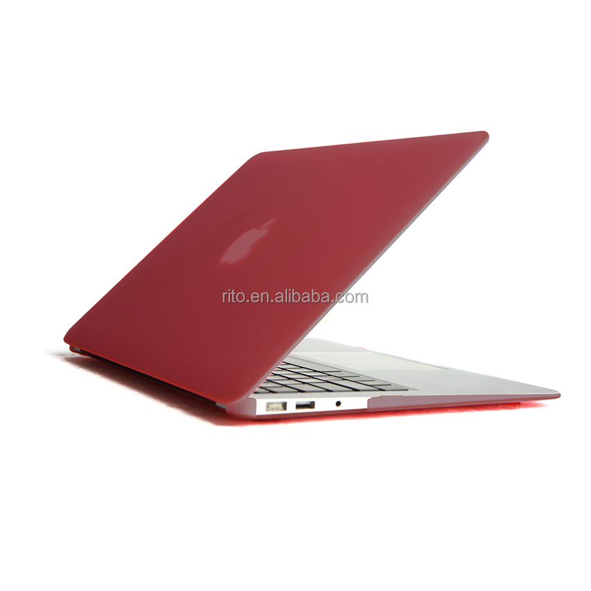 "Hard Matte Rubberized Shell Case for macbook Air 13"" Case, wine red, wholesales in shenzhen"