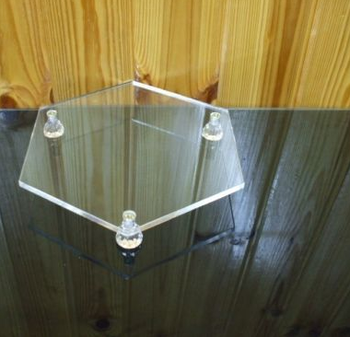 "Clear Acrylic Hexagon Riser Tray Stand Display Holder for Cake Jewelry 10""X8.5"""