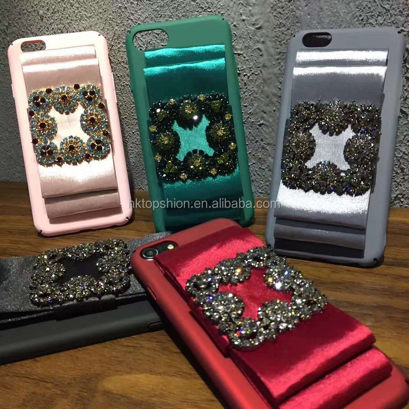 New products luxury mobile phone case for iphone 7 7 plus, for iPhone 7 cover case with rhinestones
