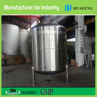 Made in China upright cylindrical round bottom stainless steel water tank 1000 liter