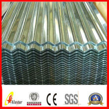 corrugated metal for roofing material