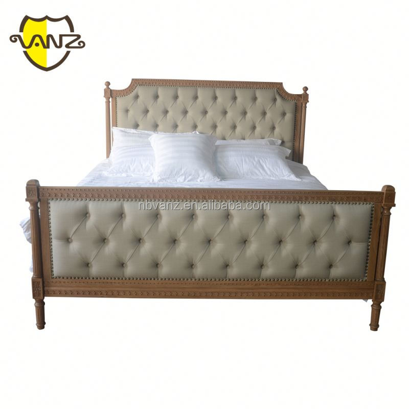 Contemporary Curved PU Platform Bedroom Furniture Bed with Footboard and Rails