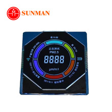 Custom segment type round circular shape lcd screen display for meters