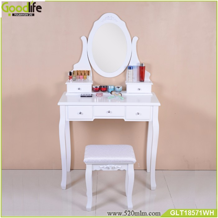 MDF dressing table with drawers and stool