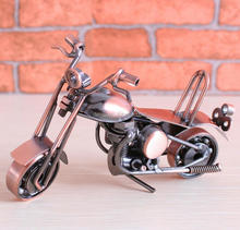 Rose Golden Metal Toy Mini Motorcycle