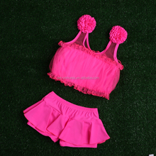 New arrival 3 colors kids models bikini swimwear