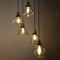 modern hand blown glass pendant lighting glass hanging lamps