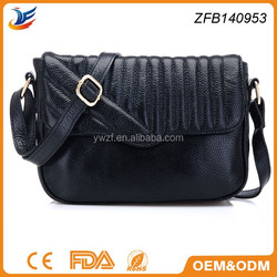 new product high quality sheep leather shoulder bag