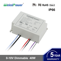 ul cul fcc 40w led driver 36w 24-36V 0-10V dimmable waterproof led light power supply IP65 IP66 constant current