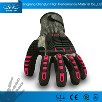 QL Double Nitrile Dipping safety nitrile gloves 13 g shock
