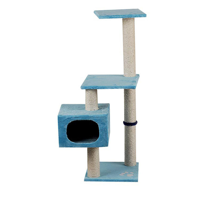 High-end Pet Products and Cats Application Blue Cute Cat Tree