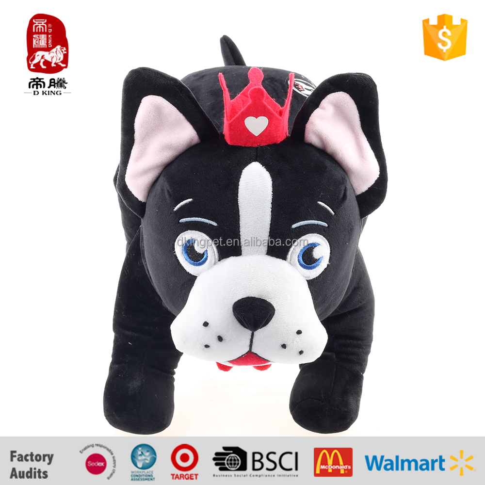 Plush Dog Standing stuffed animal soft plush toy with crown