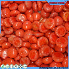 ODM supplier 8-50 mm and up red pebble glass gems stone