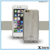 Wood Grain Shakeproof Tup Mobile Phone Case Cover For iphone 5 6