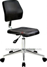 PU Leather labo furniture lab chair with nylon leg and chrome ring for lab room use