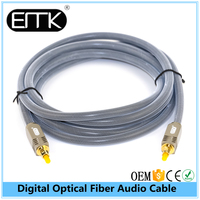2016 hot new design 6ft durable copper zinc alloy square type interface cable digital optical audio cables