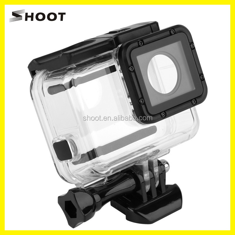 High Quality Go Pro 5 60M Waterproof Housing Case with touchable backdoor for GoPro Hero 5,similar with orginal case