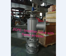 ZCPE- pilot operated breather valve with flame arrester , pilot operated pressure vacuum vent