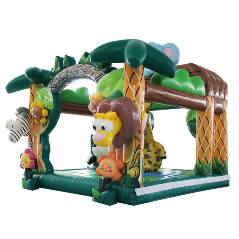 170026 Newest design Animal fun park inflatable bouncer for kids