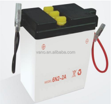 Dry Charged Motorcycle Lead Acid Battery 6N2-2A