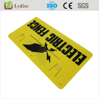 Lydite high quality Electric Fence for sheep Warning Sign Large size UV protected made in China