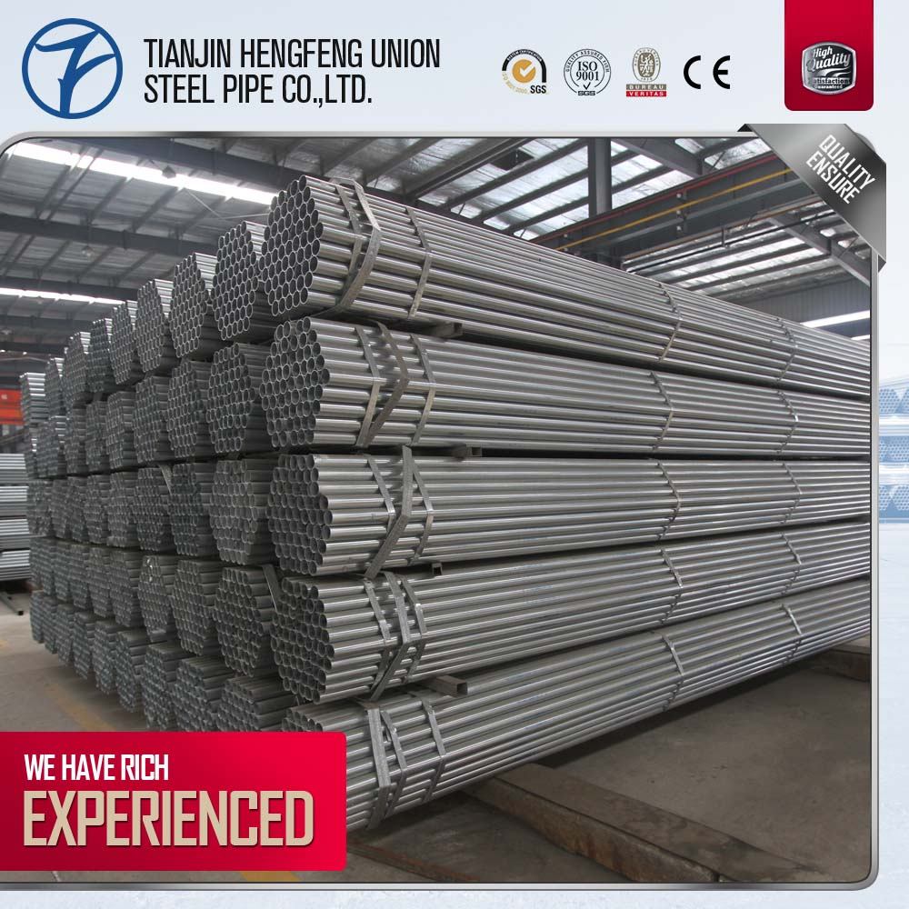 BS1387 Galvanized Carbon Steel Pipe with Threaded end