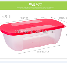 FDA BPA Free food container storage box Custom Logo Heat resistant airtight microwave PP food grade clear plastic food container
