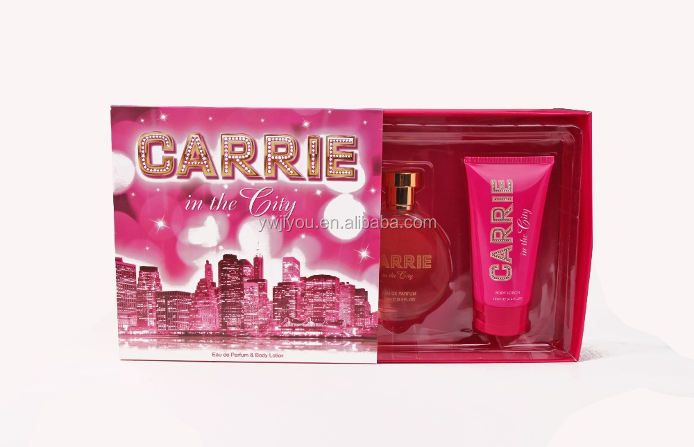 OEM/ODM Wholesale Carrie in the City 2 Pce Gift Set 100ML EDP +130ML body lotion for women wholesale brand