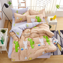 wholesale Cartoon cactus print Cheap super soft fabric Bed room Bed set Duvet Cover