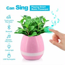 New Arrival ABS Plastic smart flower pot with Bluetooth speaker