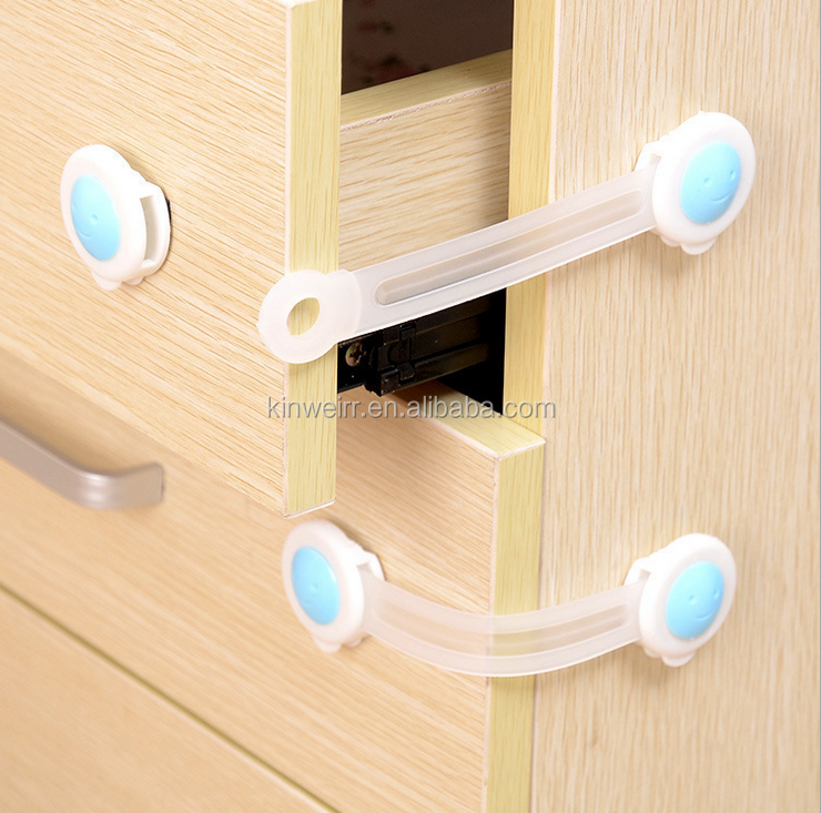 Plastic Cabinet Drawer Lock For Baby Home Safety