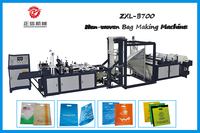 Hot sale flat bag,soft loop handle bag,D-cut bag Multi-functional Non-woven Bag Making machine